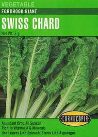 Cornucopia Garden Seeds 180 Fordhook Giant Swiss Chard Seeds