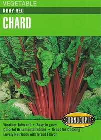 Cornucopia Garden Seeds 261 Ruby Red Chard Seeds