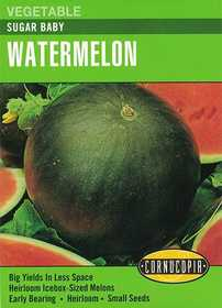 Cornucopia Garden Seeds 205 Sugar Baby Watermelon Seeds