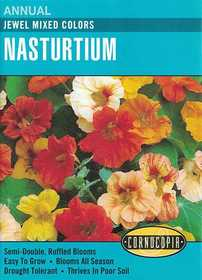 Cornucopia Garden Seeds 126 Jewel Mixed Colors Nasturtium Seeds
