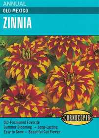 Cornucopia Garden Seeds 272 Old Mexico Zinnia Seeds