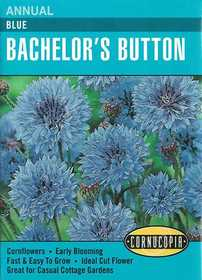 Cornucopia Garden Seeds 209 Blue Bachelor's Button Seeds