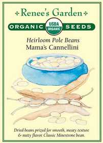 Renee's Garden Seed Co. 3069 Mama's Cannellini Organic Heirloom Pole Bean Seeds