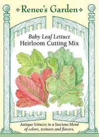 Renee's Garden Seed Co. 5029 Heirloom Cutting Mix Lettuce