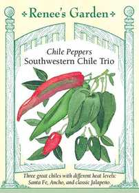 Renee's Garden Seed Co. 5169 Southwestern Trio Chile Pepper Seeds