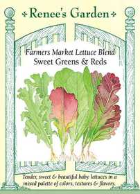 Renee's Garden Seed Co. 5183 Sweet Greens And Reds Farmer's Market Blend Lettuce Seeds