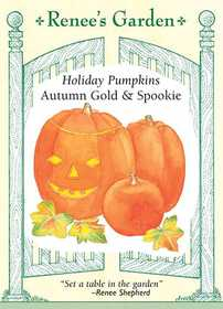 Renee's Garden Seed Co. 5290 Autumn Gold And Spookie Holiday Pumpkin Seeds