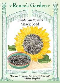 Renee's Garden Seed Co. 5305 Snack Seed Edible Sunflower Seeds