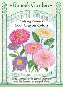 Renee's Garden Seed Co. 5371 Cool Crayon Colors Cutting Zinnia Seeds
