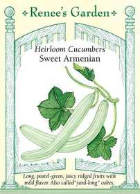 Renee's Garden Seed Co. 5373 Sweet Armenian Heirloom Cucumber Seeds