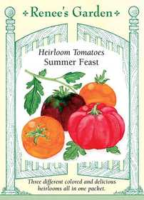 Renee's Garden Seed Co. 5421 Summer Feast Heirloom Tomato Seeds