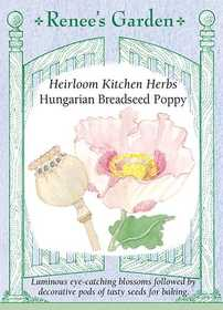 Renee's Garden Seed Co. 5495 Hungarian Breadseed Poppy Heirloom Kitchen Herb Seeds