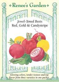Renee's Garden Seed Co. 5570 Red Gold And Candystripe Jewel Toned Beet Seeds