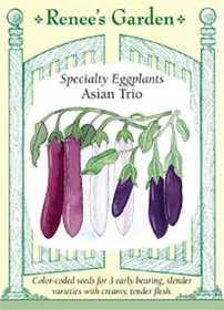 Renee's Garden Seed Co. 5630 Asian Trio Specialty Eggplant Seeds