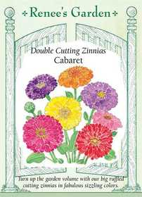 Renee's Garden Seed Co. 5871 Cabaret Double Cutting Zinnia Seeds