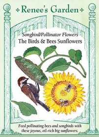 Renee's Garden Seed Co. 5962 The Birds And The Bees Sunflowers Songbird/Pollinator Flower Seeds