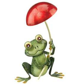 Regal Art & Gift 10264 Frog with Mushroom Decor