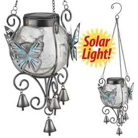 Regal Art & Gift 10682 Solar Lantern - Butterfly