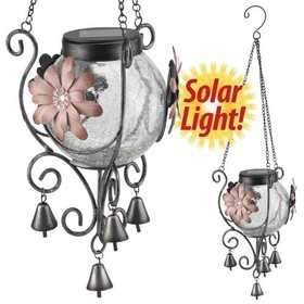 Regal Art & Gift 10683 Solar Lantern - Pink Flower