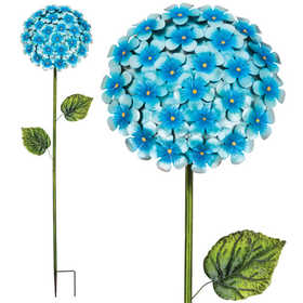 Regal Art & Gift 11226 Hydrangea Stake 49 in - Blue