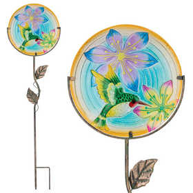 Regal Art & Gift 11323 12 in Glow Disk Stake - Hummingbird