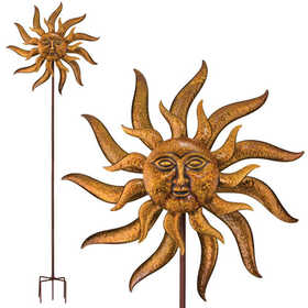 Regal Art & Gift 11314 32 in Kinetic Stake - Sun Face