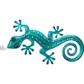 Regal Art & Gift 5299 Gecko Wall Decor - Blue