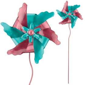 Regal Art & Gift 5387 Pinwheel Stake - Purple/Teal