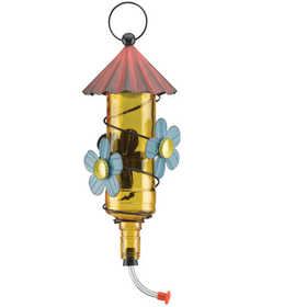 Regal Art & Gift 10655 Folk Hummingbird Feeder - Yellow