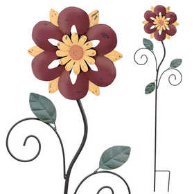 Regal Art & Gift 10693 Rustic Flower Stake 42 in - Red
