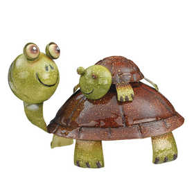 Regal Art & Gift 10612 Turtle Piggy Back Decor
