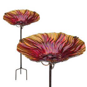 Regal Art & Gift 10921 Birdbath/Feeder Stake - Red