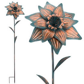 Regal Art & Gift 10812 Giant Patina Flower Stake - Daffodil