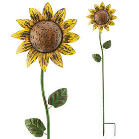 Regal Art & Gift 10702 Rustic Sunflower Spinner Stake