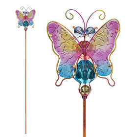 Regal Art & Gift 10945 Jeweled Bug Stake - Butterfly