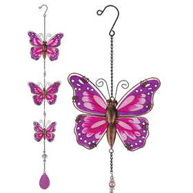 Regal Art & Gift 10904 Hanging Decor Butterly - Pink