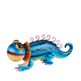 Regal Art & Gift 10962 Gecko Decor - Blue Striped