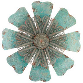 Regal Art & Gift 10848 Embossed Lace Flower 28 in - Teal