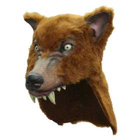 GHOULISH PRODUCTIONS 26423 Brown Wolf Helmet
