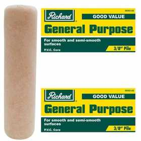 Richard Tools 99302 9 1/2 in General Purpose Roller Cover; 3/8 in Pile