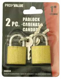 ProfValue Z08033 1 in (25mm) Padlock 2pc