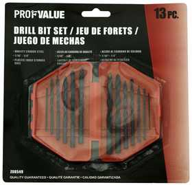 ProfValue Z08549 13pc Drill Set-1/16 in Through 1/4 in