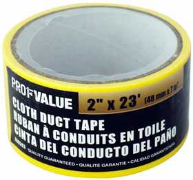 ProfValue Z08593 White Cloth Duct Tape 7m