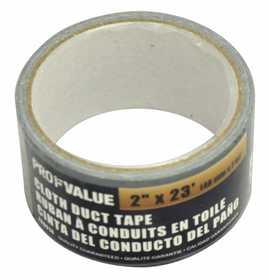 ProfValue Z08614 Gray Cloth Duct Tape 7m