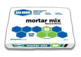 Ash Grove 31018 Mortar Mix 80 Lbs