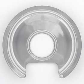 Lux Products PW6-010 Range Trim Pan 6 In Porcelain Range With Cut/Lip