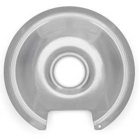 Lux Products PW8-010 Range Trim Pan 8 In Porcelain Range With Cut/Lip