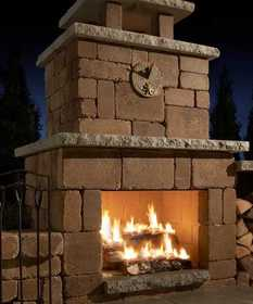 Rockwood Retaining Walls 4200040 Compact Fireplace Santa Fe