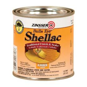 Zinsser 716 Bulls Eye Amber Shellac 1/2 Pt Orange
