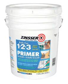 Zinsser 2000 Bulls Eye 1-2-3 Primer & Sealer White 5 Gal